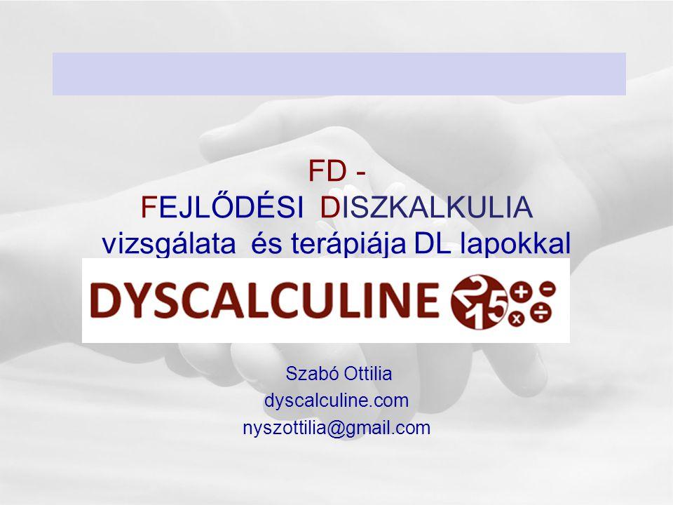 FD - FEJLŐDÉSI DISZKALKULIA vizsgálata és terápiája DL lapokkal