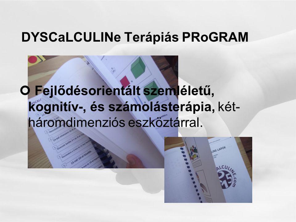 DYSCaLCULINe Terápiás PRoGRAM