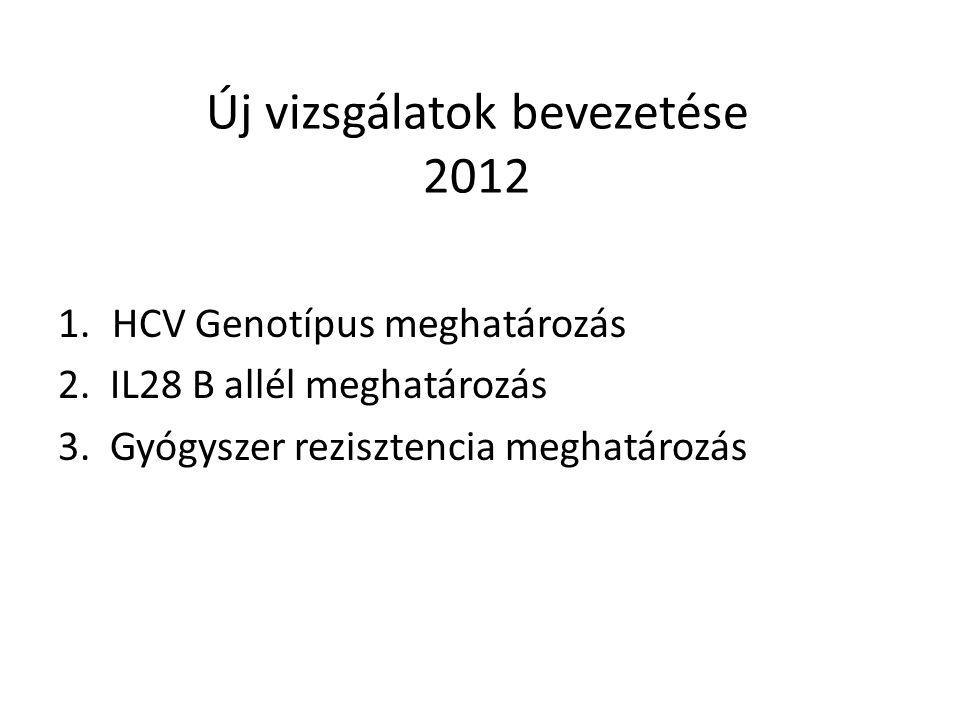 Új vizsgálatok bevezetése 2012