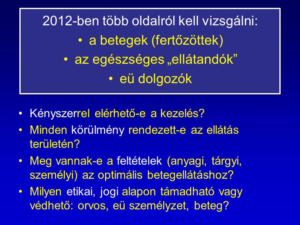 2012-ben több oldalról kell vizsgálni: a betegek (fertőzöttek)