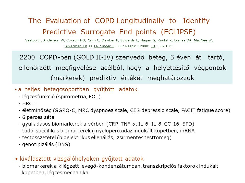 The Evaluation of COPD Longitudinally to Identify