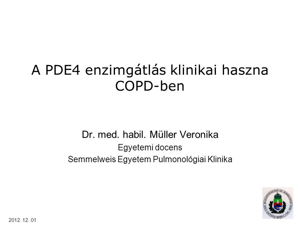 A PDE4 enzimgátlás klinikai haszna COPD-ben