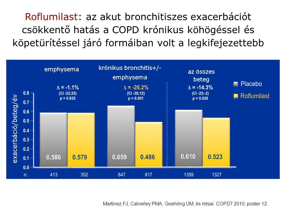 Roflumilast: az akut bronchitiszes exacerbációt csökkentő hatás a COPD krónikus köhögéssel és köpetürítéssel járó formáiban volt a legkifejezettebb