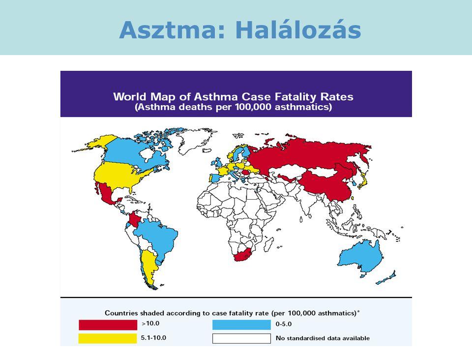 Asztma: Halálozás