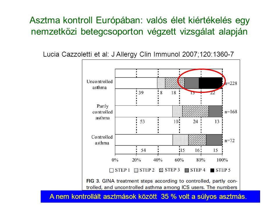 Asztma kontroll Európában: valós élet kiértékelés egy nemzetközi betegcsoporton végzett vizsgálat alapján