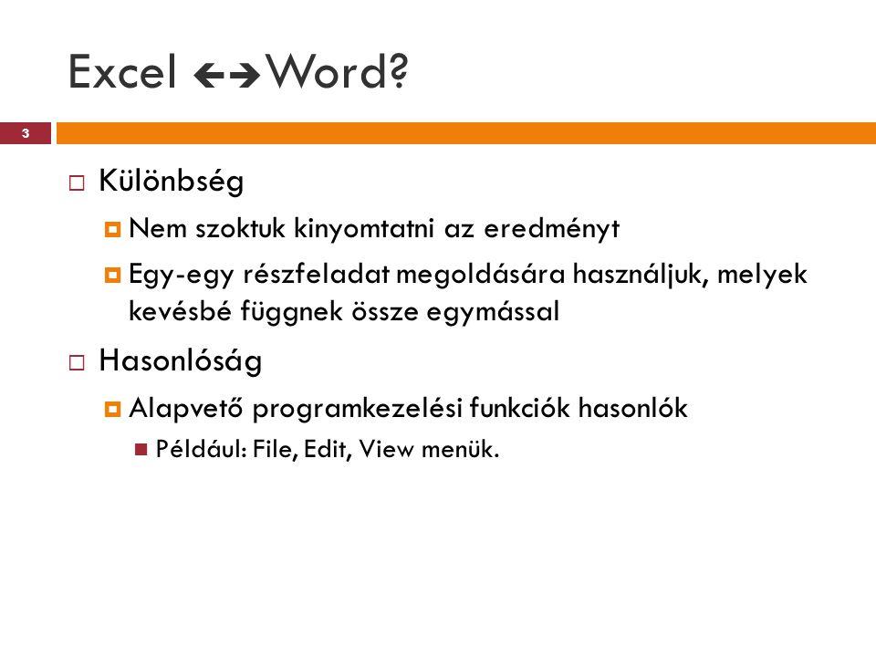 Excel Word Különbség Hasonlóság