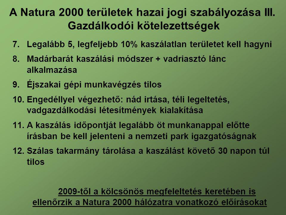 A Natura 2000 területek hazai jogi szabályozása III