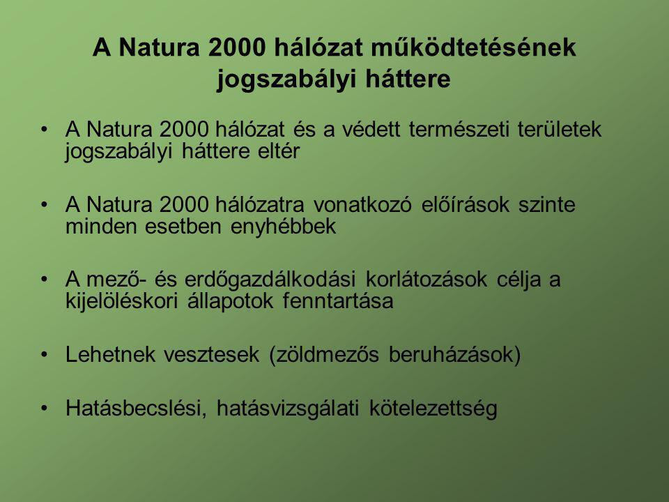A Natura 2000 hálózat működtetésének jogszabályi háttere