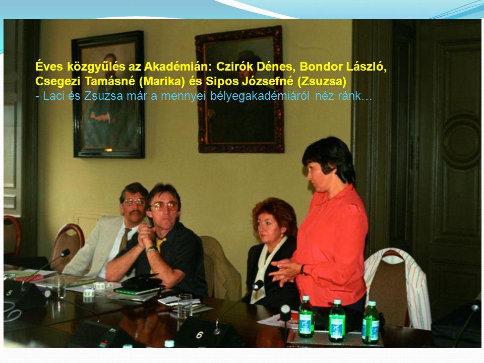 Éves közgyűlés az Akadémián: Czirók Dénes, Bondor László,