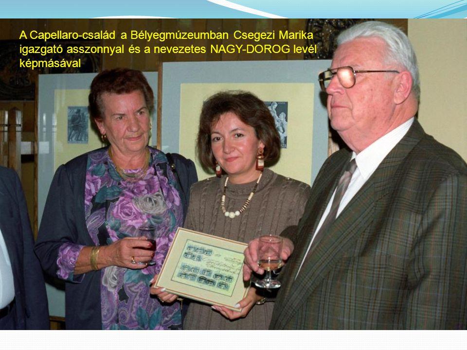A Capellaro-család a Bélyegmúzeumban Csegezi Marika