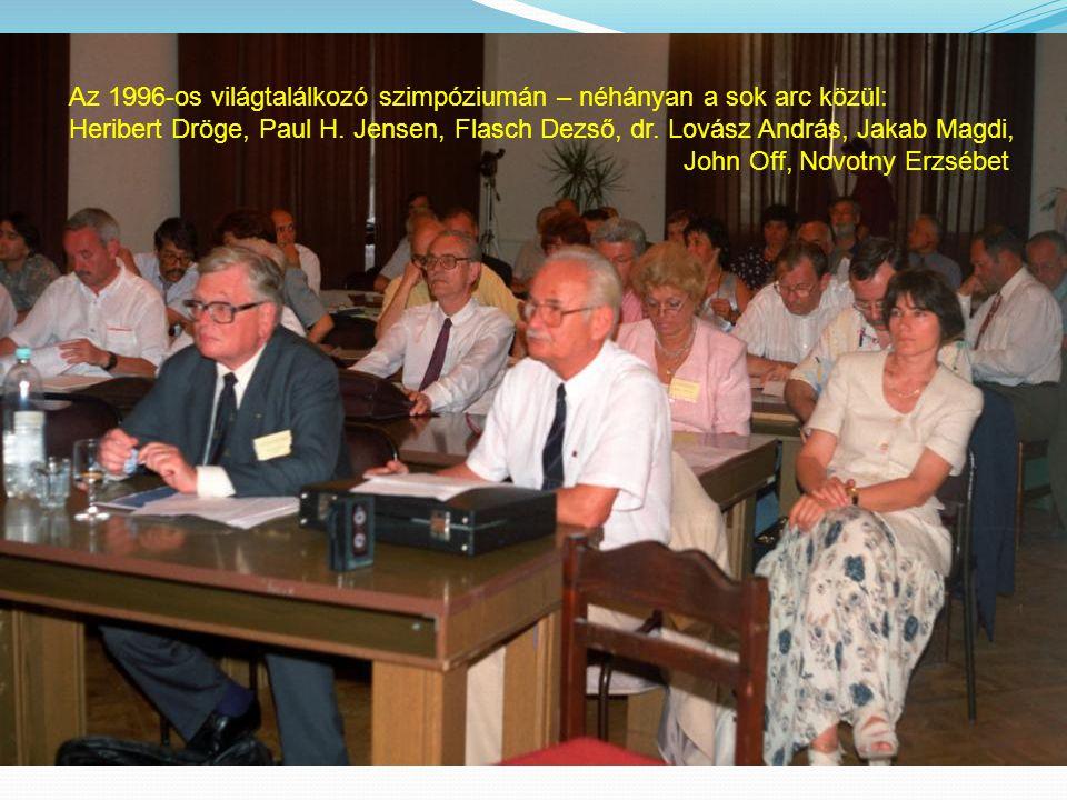 Az 1996-os világtalálkozó szimpóziumán – néhányan a sok arc közül: