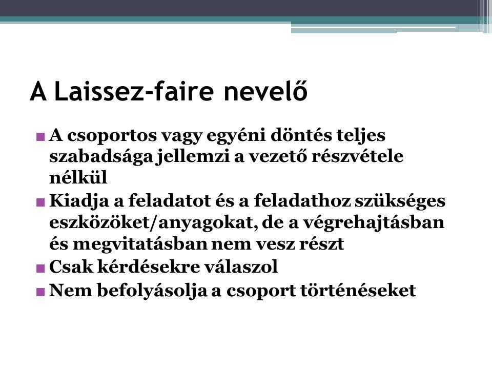 A Laissez-faire nevelő