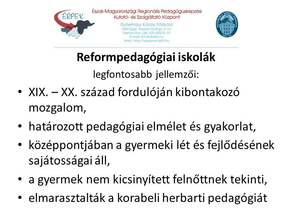 Reformpedagógiai iskolák