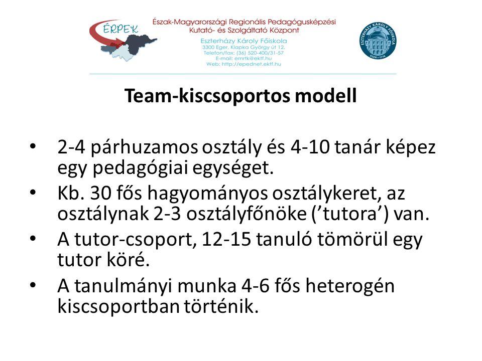 Team-kiscsoportos modell