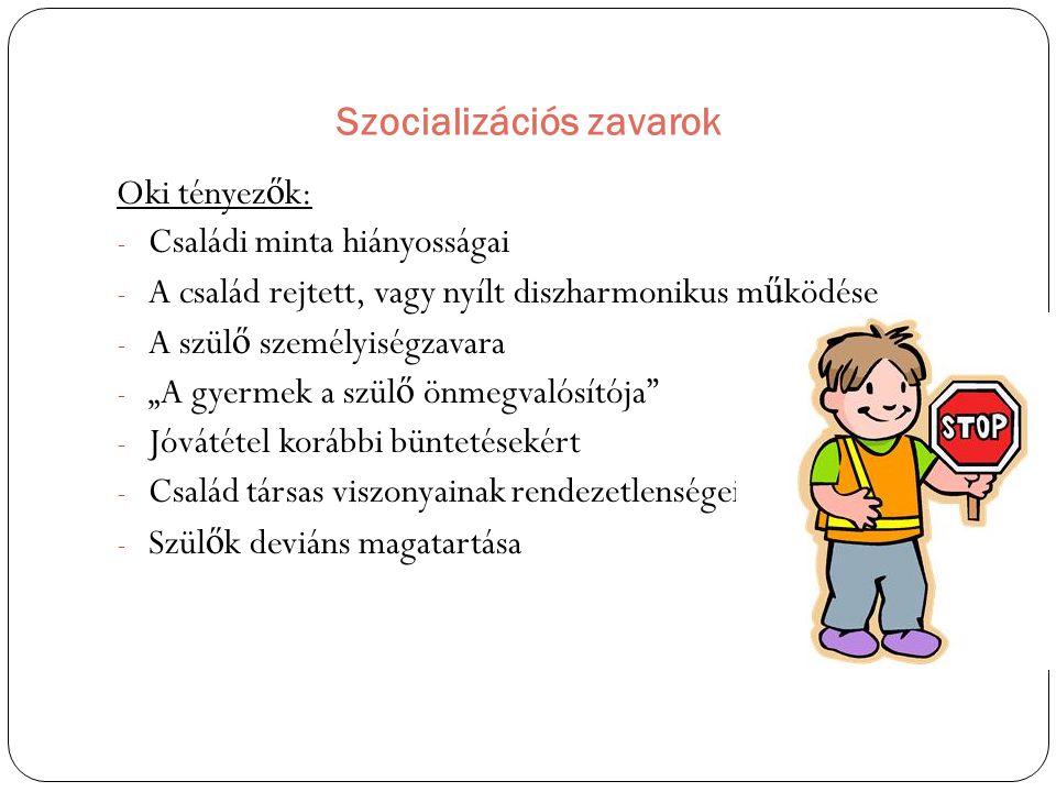 Szocializációs zavarok