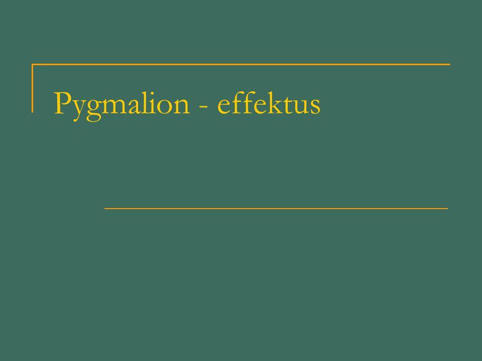 Pygmalion - effektus