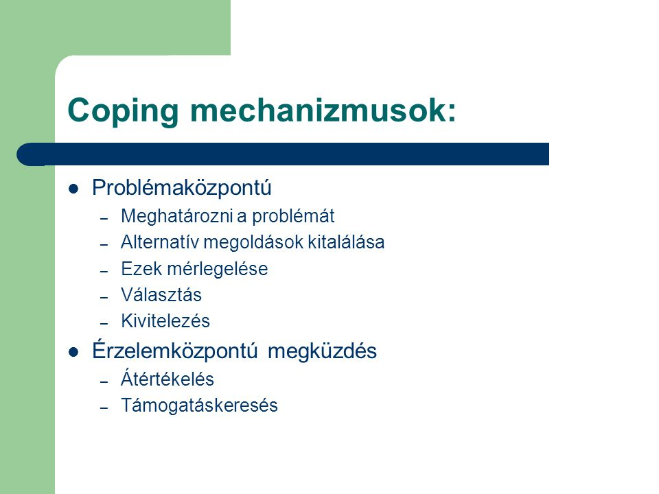 Coping mechanizmusok: