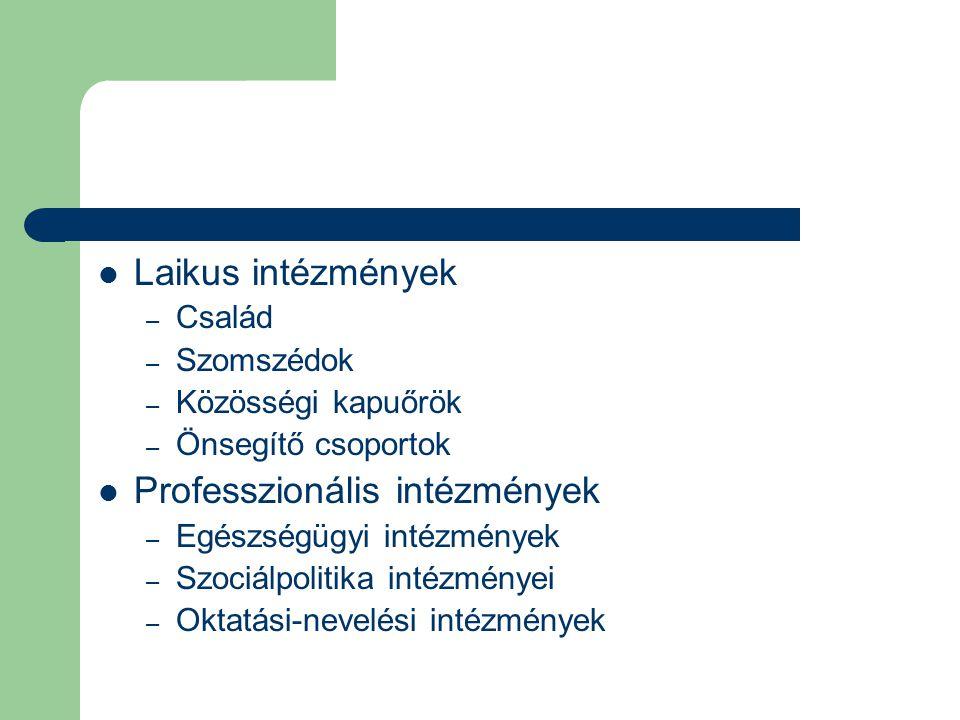 Professzionális intézmények