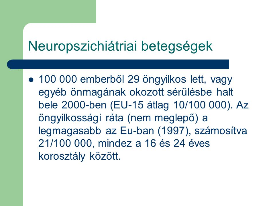 Neuropszichiátriai betegségek