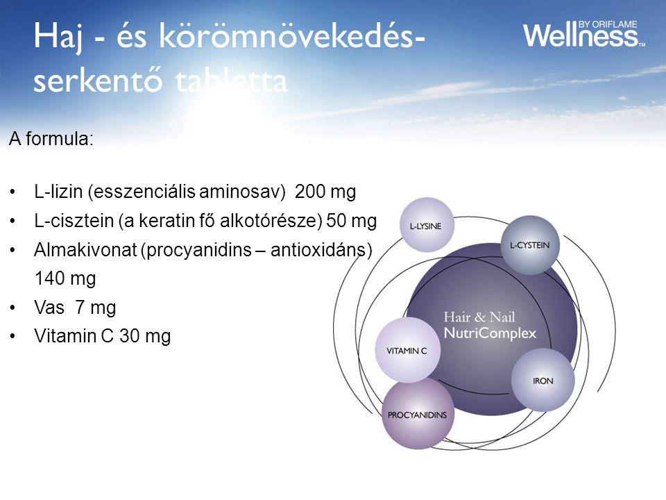 Haj - és körömnövekedés-serkentő tabletta