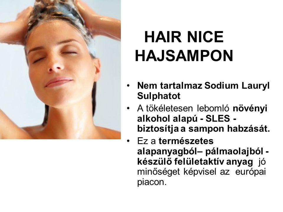 HAIR NICE HAJSAMPON Nem tartalmaz Sodium Lauryl Sulphatot