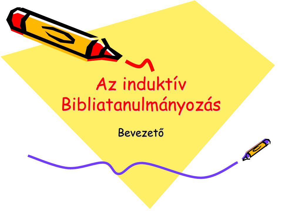 Az induktív Bibliatanulmányozás