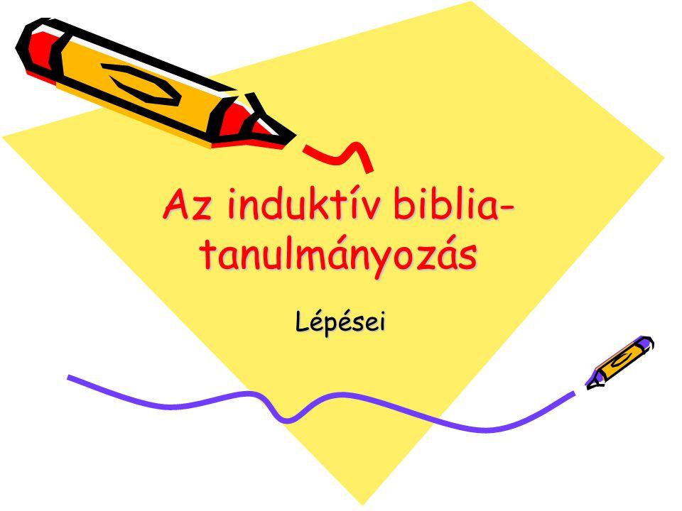 Az induktív biblia-tanulmányozás