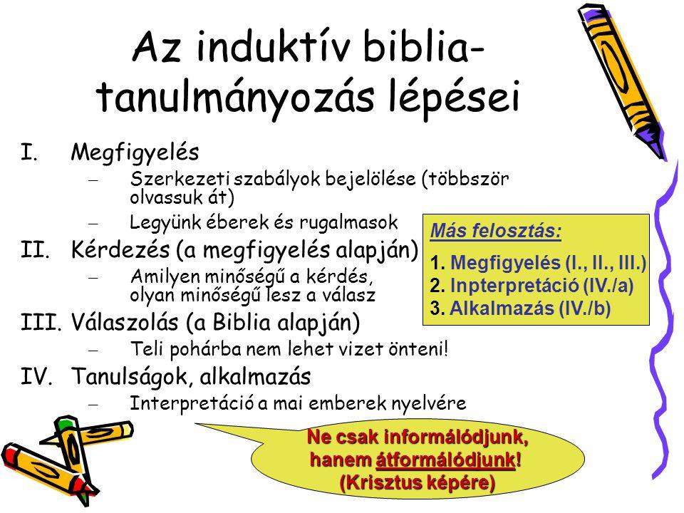 Az induktív biblia-tanulmányozás lépései