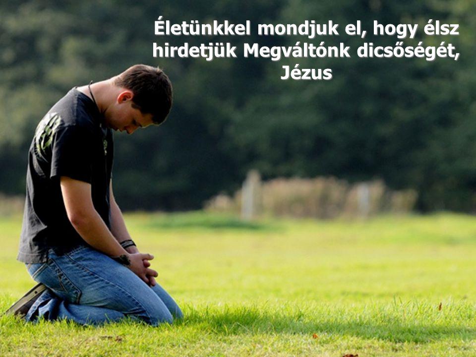 Életünkkel mondjuk el, hogy élsz hirdetjük Megváltónk dicsőségét,