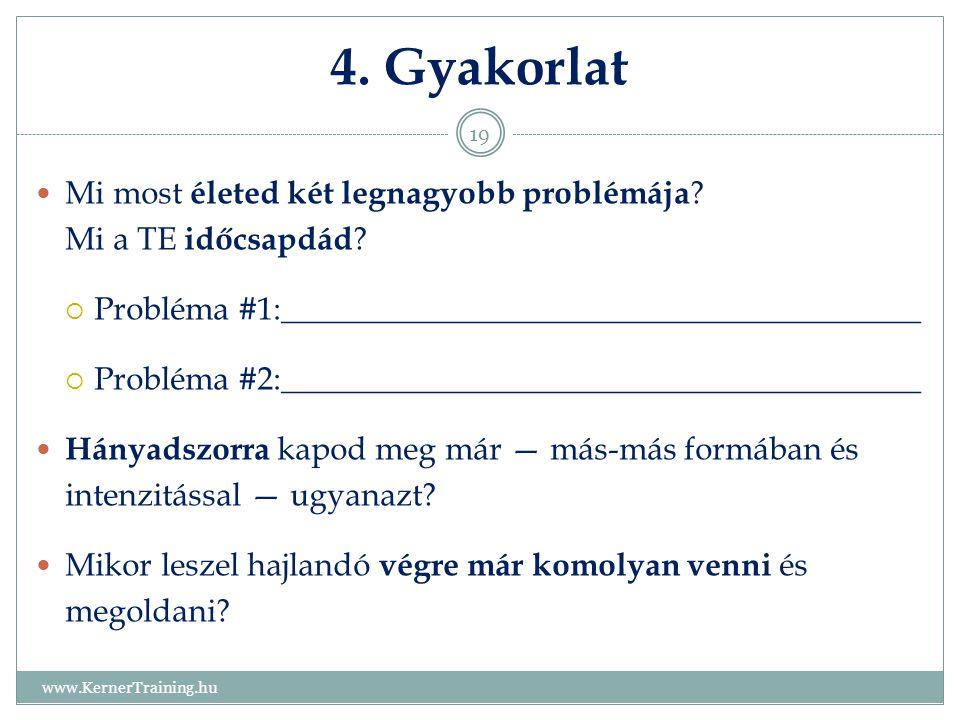 4. Gyakorlat Mi most életed két legnagyobb problémája