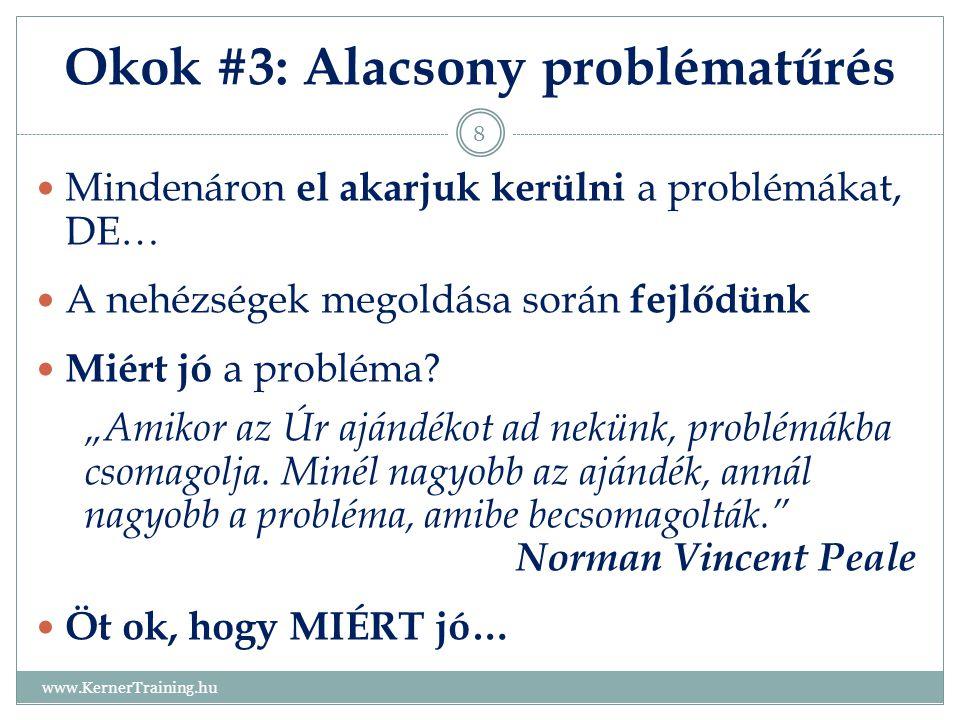 Okok #3: Alacsony problématűrés