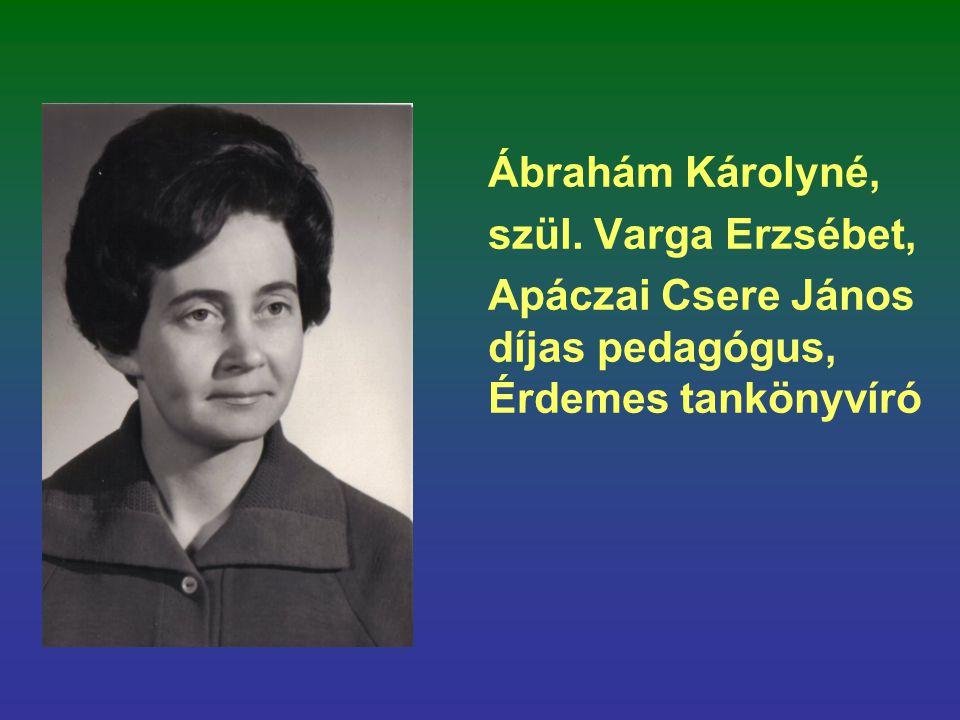 Ábrahám Károlyné, szül. Varga Erzsébet, Apáczai Csere János díjas pedagógus, Érdemes tankönyvíró