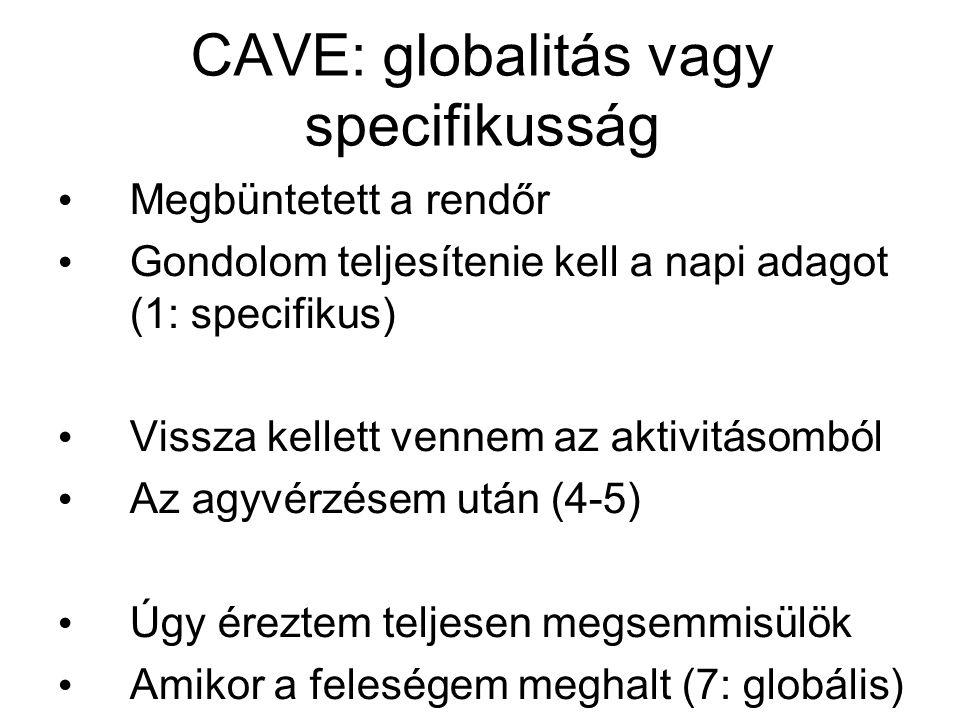 CAVE: globalitás vagy specifikusság