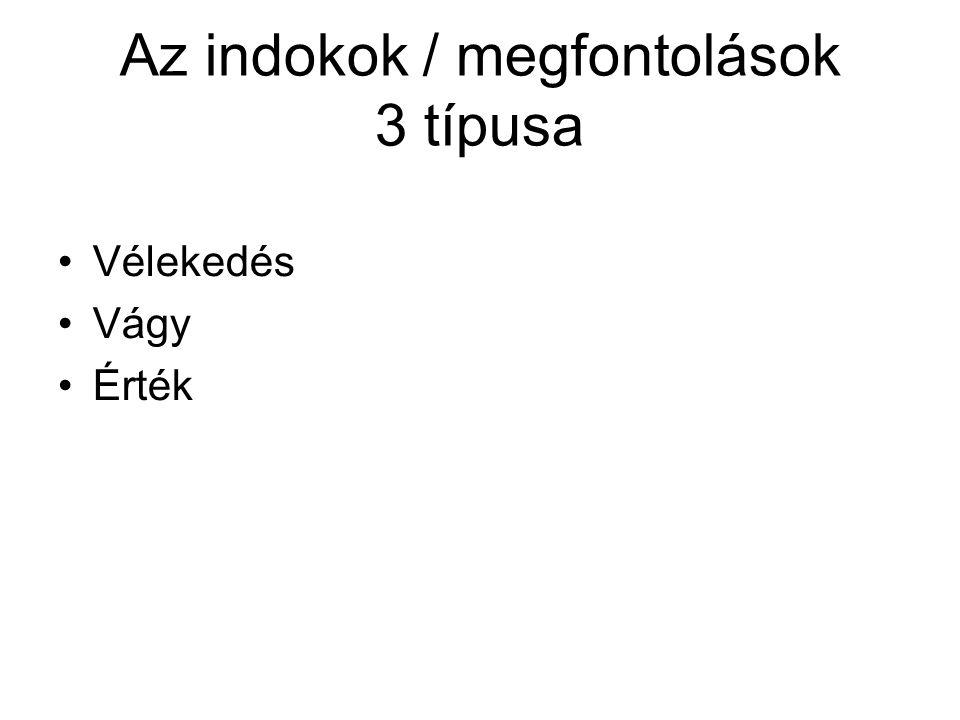 Az indokok / megfontolások 3 típusa