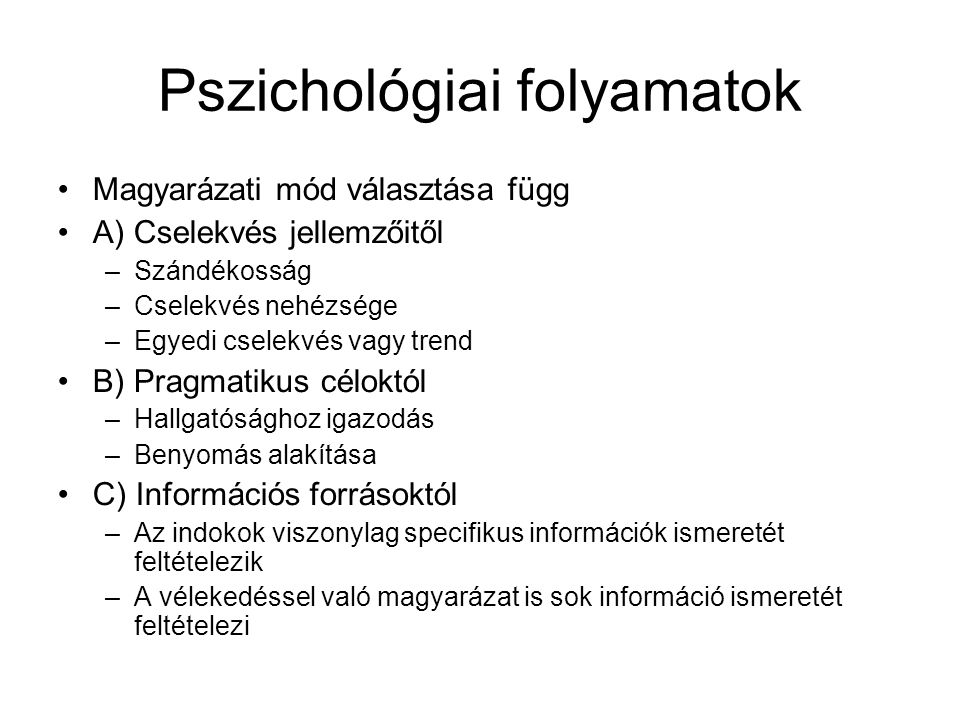 Pszichológiai folyamatok