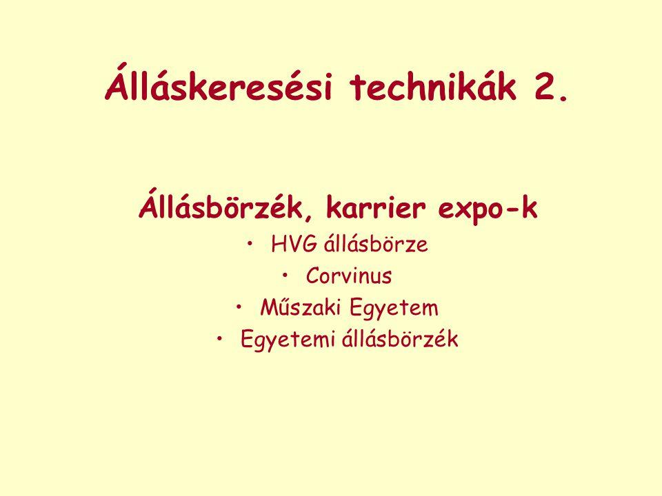 Álláskeresési technikák 2.
