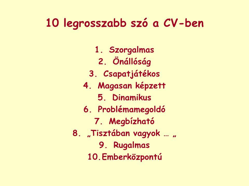 10 legrosszabb szó a CV-ben