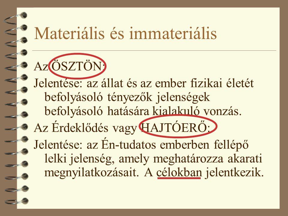 Materiális és immateriális