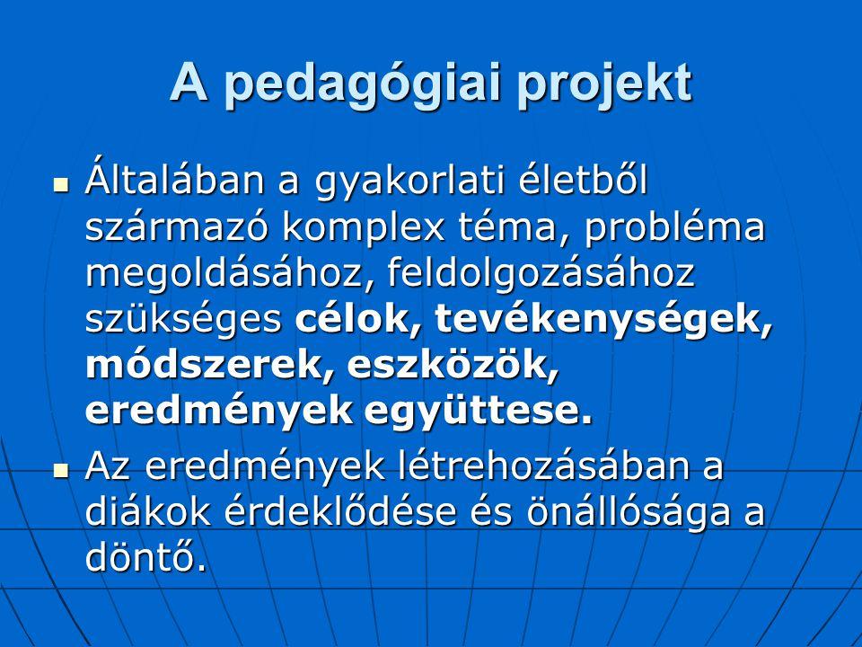 A pedagógiai projekt