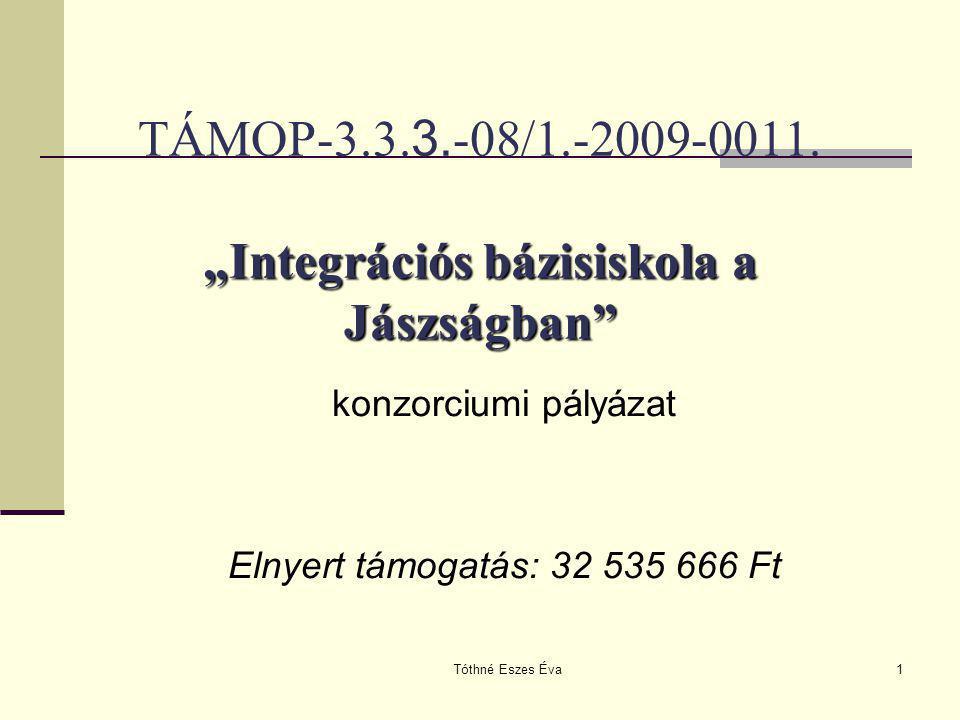 """TÁMOP-3.3.3.-08/1.-2009-0011. """"Integrációs bázisiskola a Jászságban"""