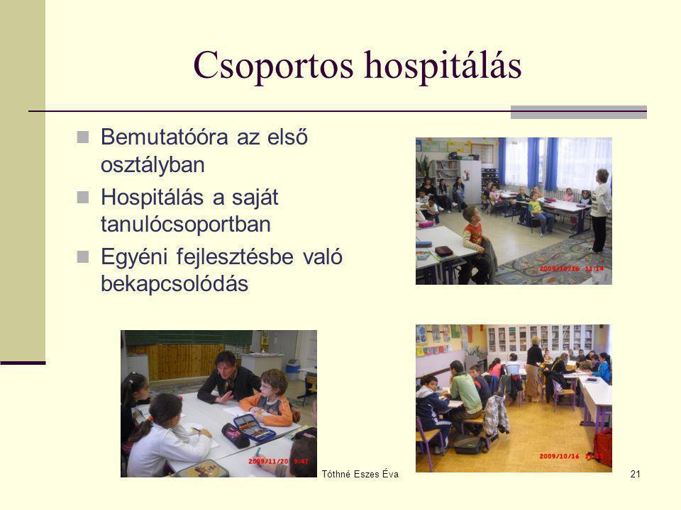 Csoportos hospitálás Bemutatóóra az első osztályban