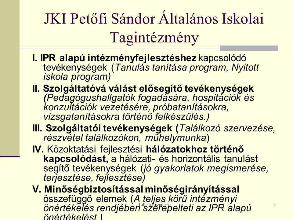 JKI Petőfi Sándor Általános Iskolai Tagintézmény