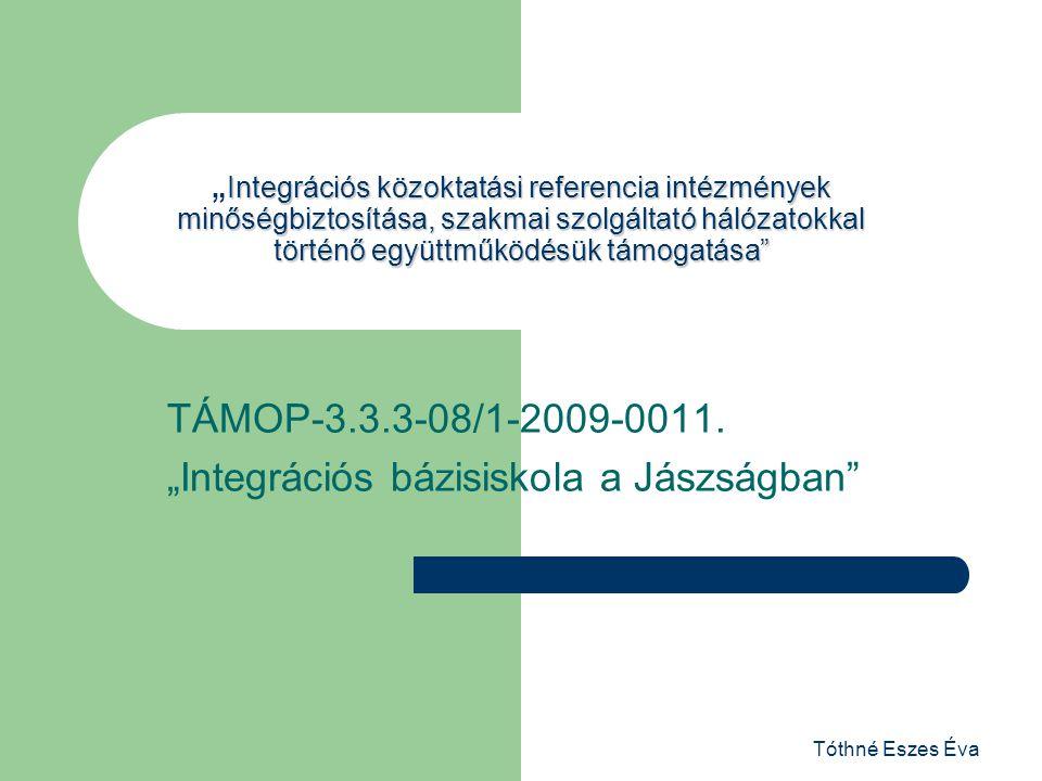 """TÁMOP-3.3.3-08/1-2009-0011. """"Integrációs bázisiskola a Jászságban"""