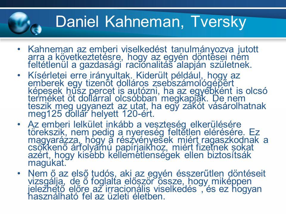 Daniel Kahneman, Tversky