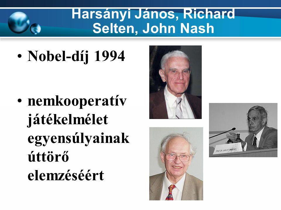 Harsányi János, Richard Selten, John Nash