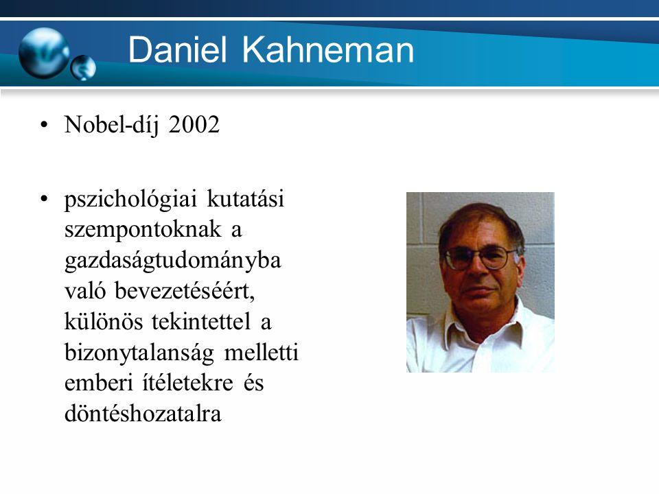 Daniel Kahneman Nobel-díj 2002
