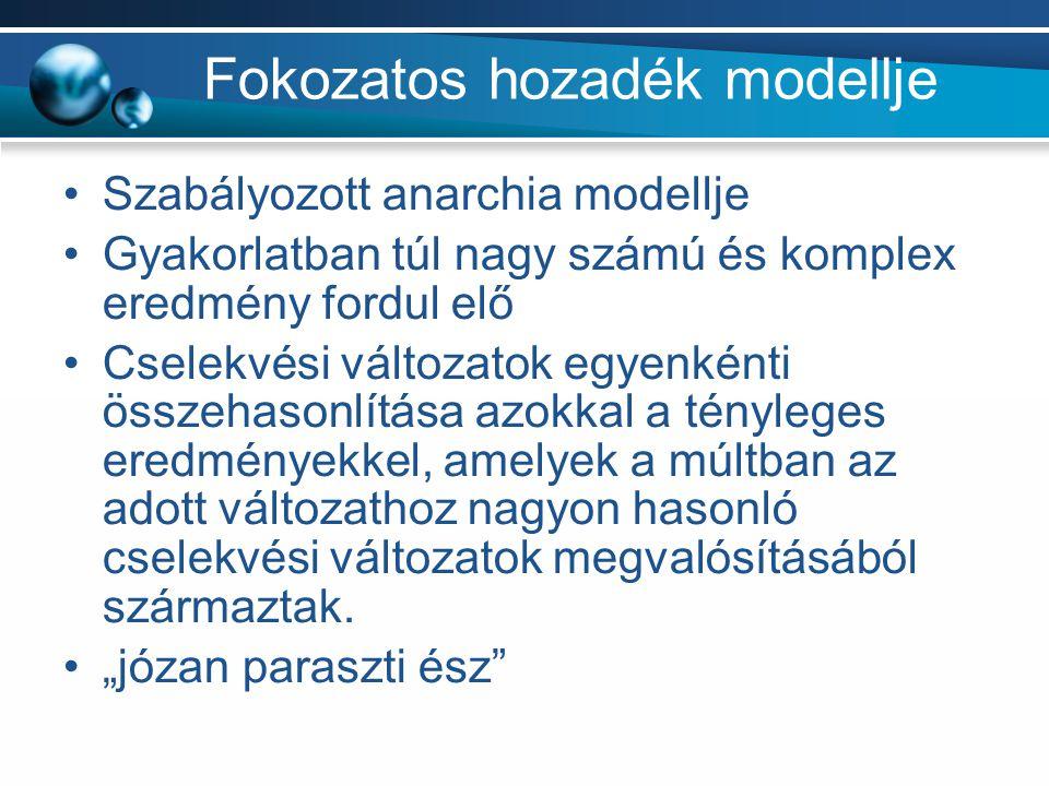 Fokozatos hozadék modellje