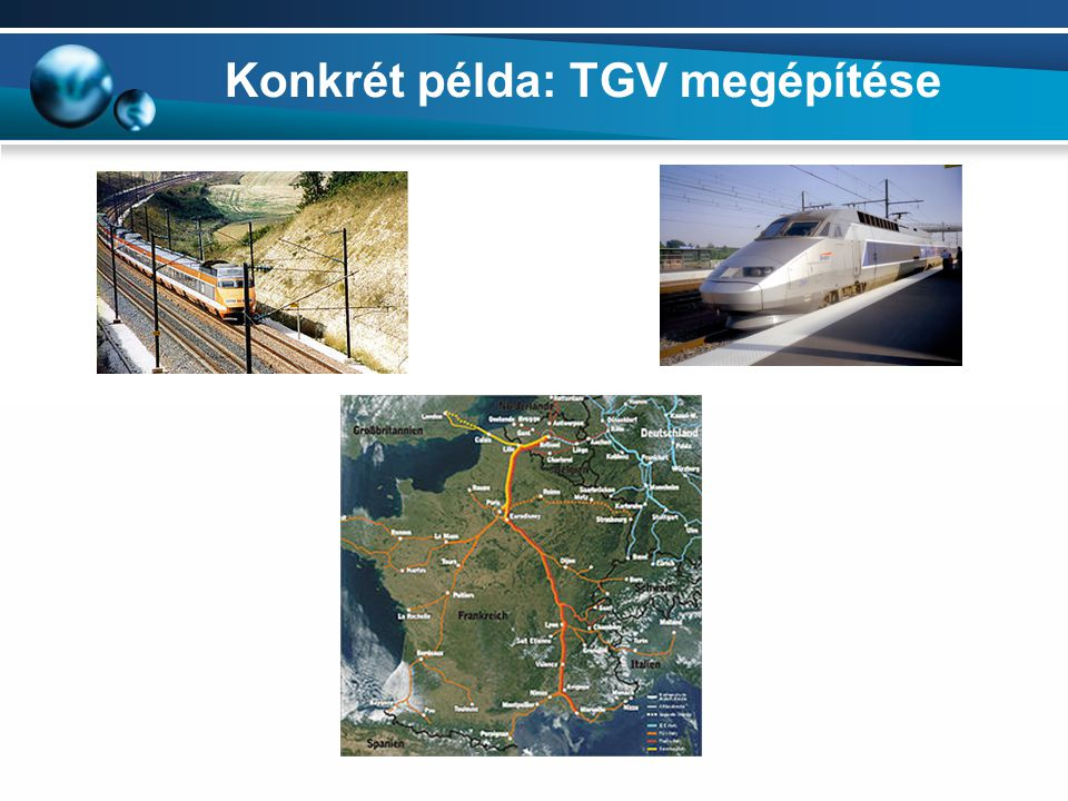 Konkrét példa: TGV megépítése