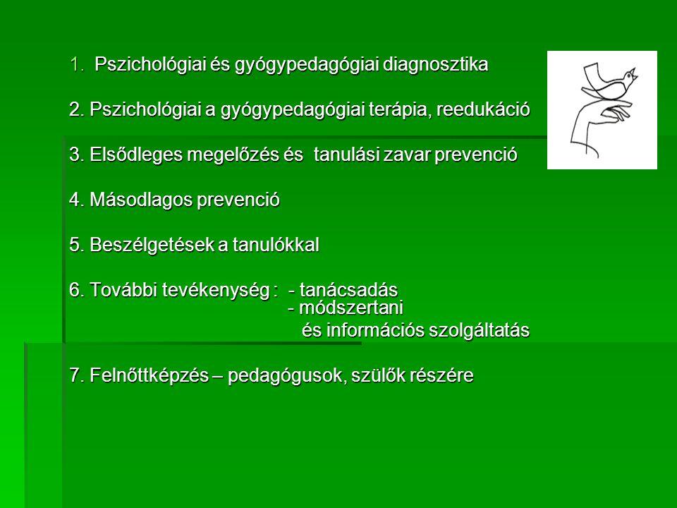 Pszichológiai és gyógypedagógiai diagnosztika