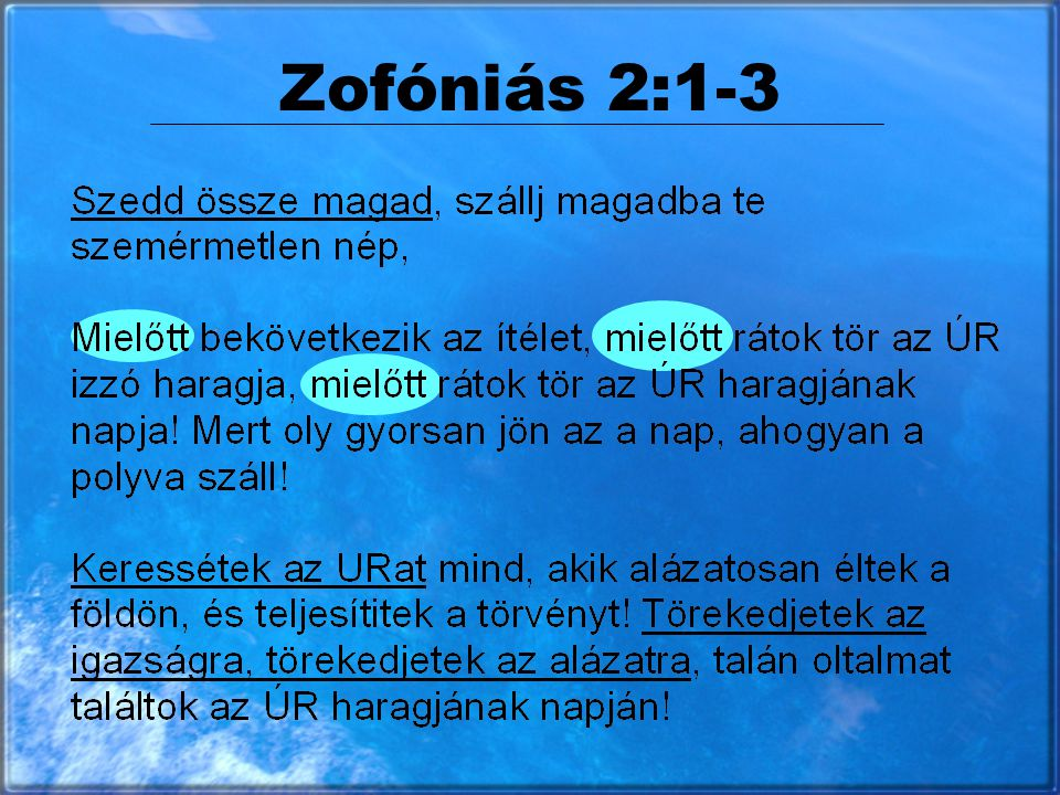 Zofóniás 2:1-3
